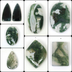 GREEN MOSS AGATE Gemstone Cabochon : Natural Untreated Agate Mix Shapes Cabochon 1pc For Jewelry