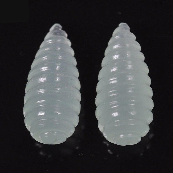 ONYX Gemstone Carving : 38.10cts Natural Onyx Gemstone Hand Carved Tear Drop 26*11mm Pair For Earring