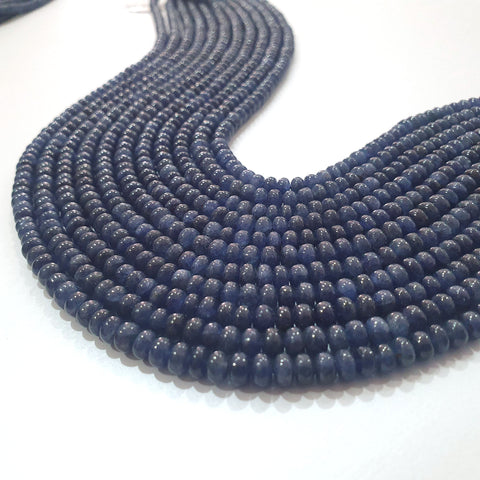 Blue Sapphire Rondelle Beads