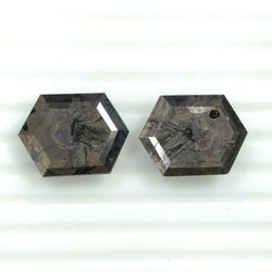 27.45cts Natural Untreated Golden Brown CHOCOLATE SAPPHIRE Gemstone Hexagon Shape Normal Cut 19*14mm Pair For Earring