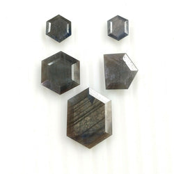 39.00cts Natural Untreated SILVER SAPPHIRE Gemstone Hexagon Shape Normal Cut 9.5*8.5mm - 22*16mm 5pcs For Jewelry