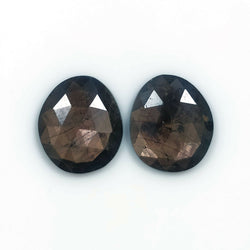 11.05cts Natural Untreated Golden Brown CHOCOLATE SAPPHIRE Gemstone Uneven Shape Rose Cut 14*12mm Pair For Jewelry