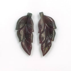 9.40cts Natural Untreated MULTI SAPPHIRE Gemstone Hand Carved Indian Leaf 23.5*10mm Pair For Earring