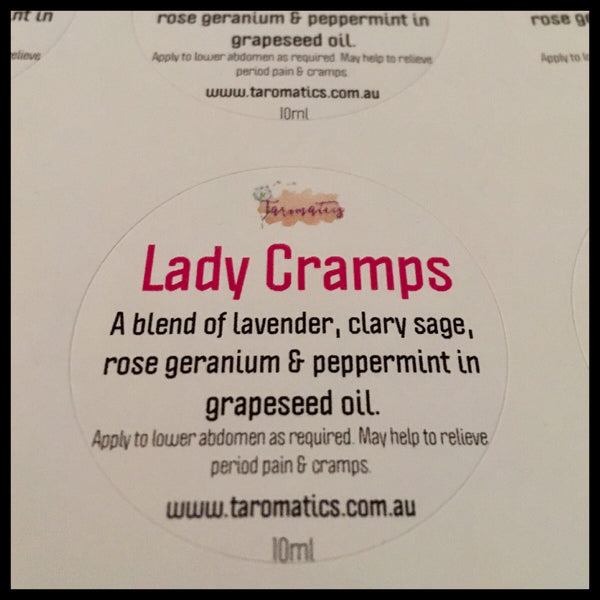 Essential Oil Roller Bottle - Lady Cramps Blend