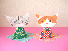 Let's celebrate the Japanese Girls' Day with Catchy Cat Origami