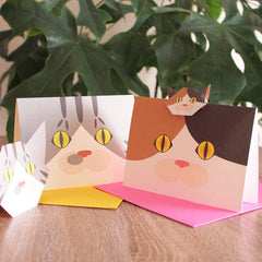 Cat Face Greeting Cards
