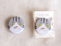 Cat Face Pin Buttons-Catchy_boutique