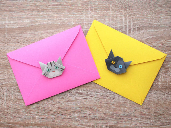 Cat Origami Envelopes