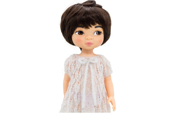 Silver Leaves dress for Disney Animators dolls