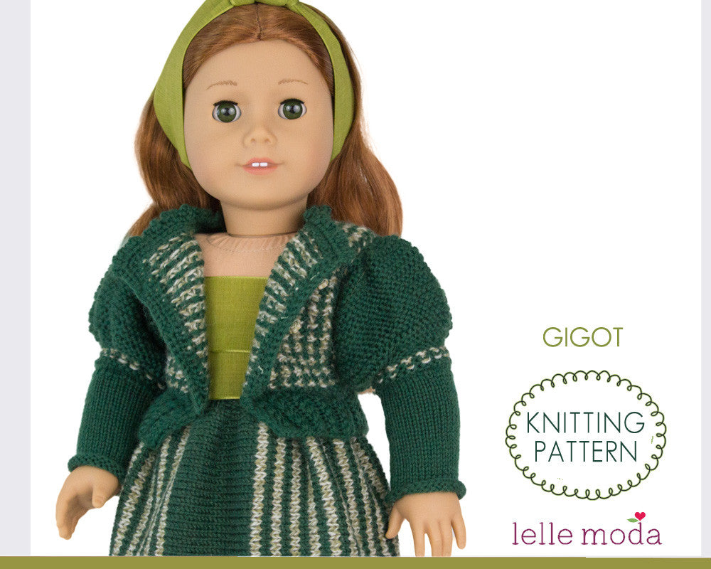 Historic gigot cardigan and skirt for American Girl doll