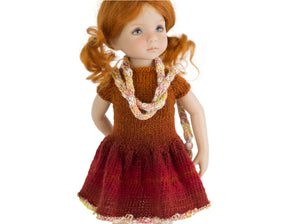 Almond dress  doll clothes pattern