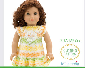 Summer dress pattern for American Girl dolls