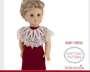 Long party dress pattern for American Girl dolls