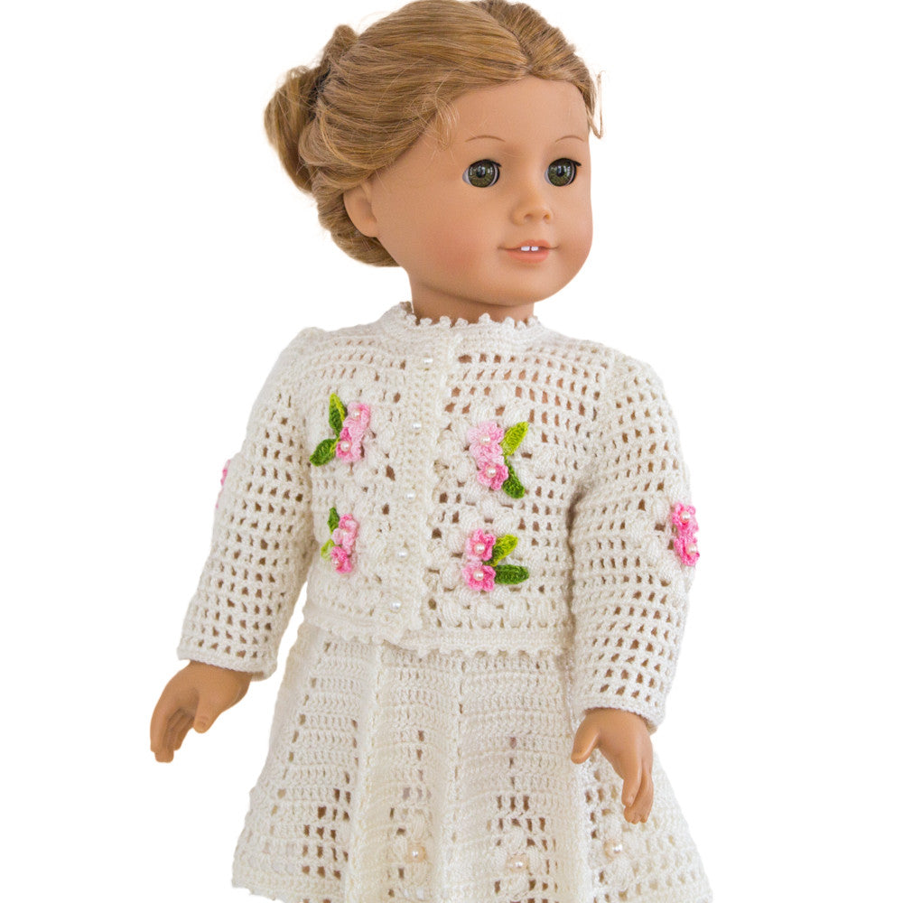 Easter Morning Crochet clothes for 18 inch doll