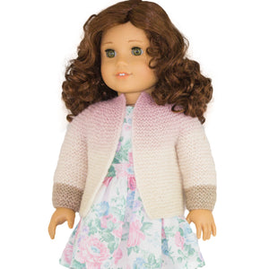 American girl doll cradigan