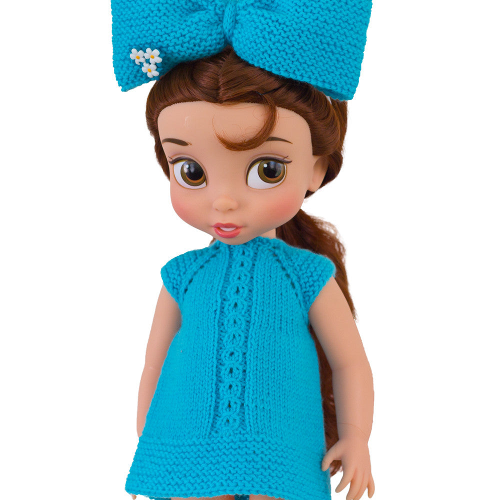 Knitting pattern dress for Disney Animators dolls