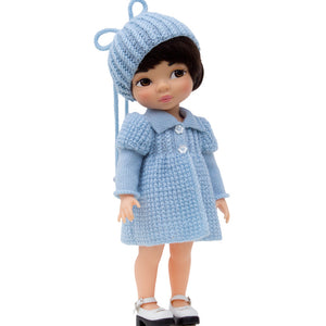 Coat and hat pattern for Disney Animators dolls