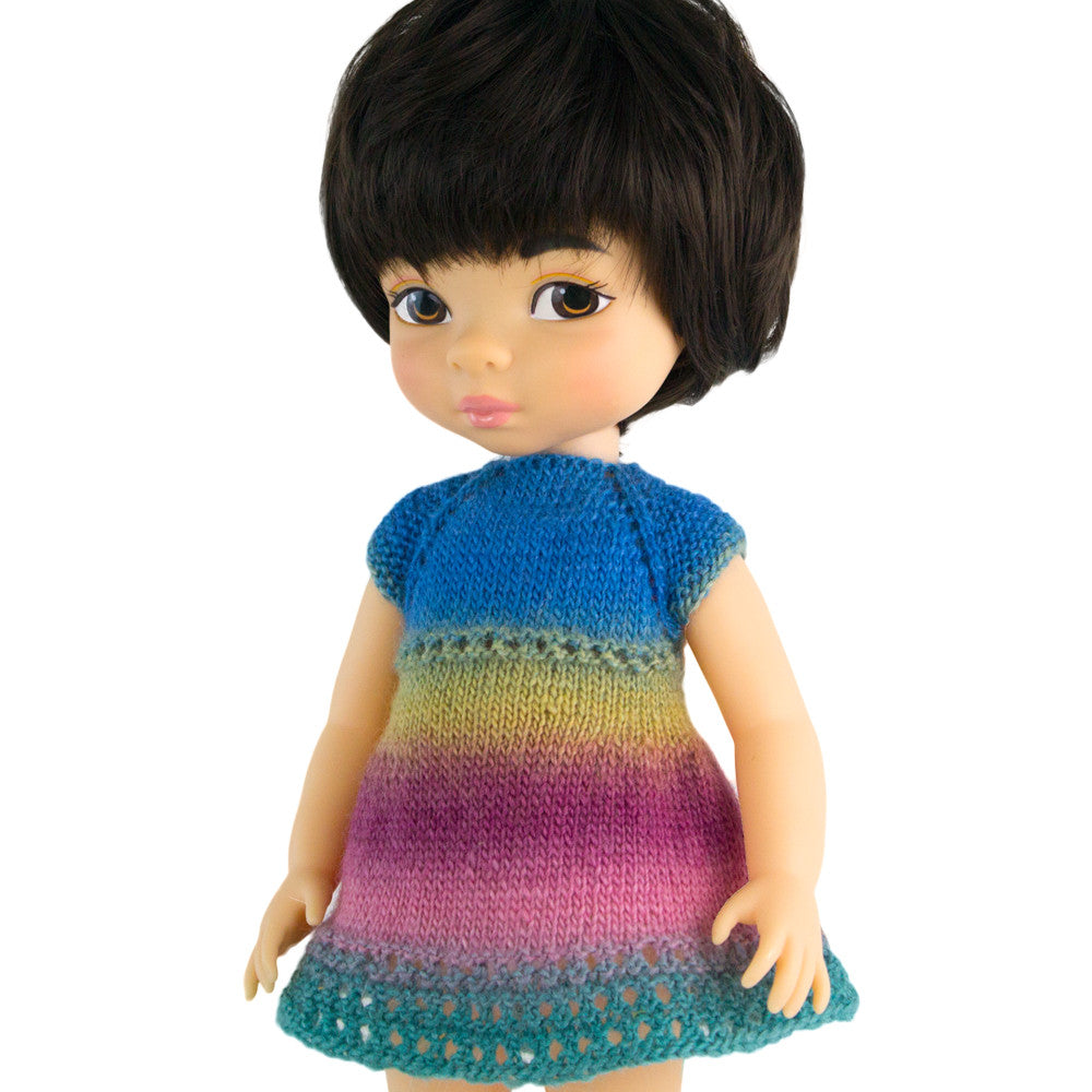 Knitted dress for 16 inch dolls