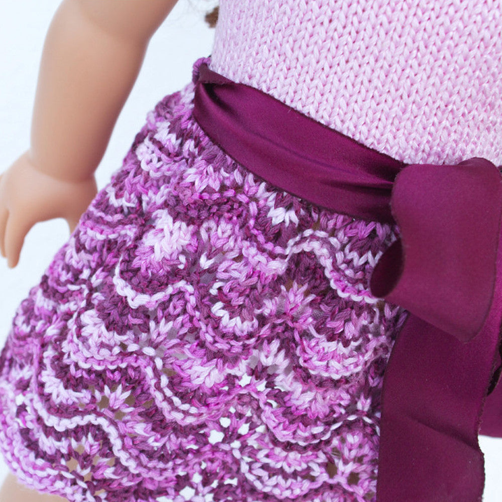 Knitted dress for American Girl dolls