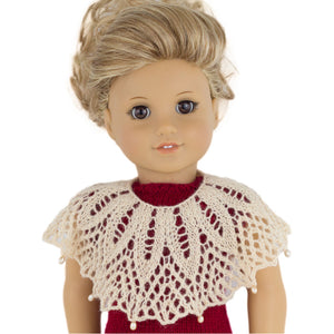 Big lacy collar pattern for American Girl party dress