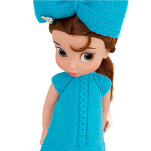 Turquoise dress pattern for Disney Animators dolls