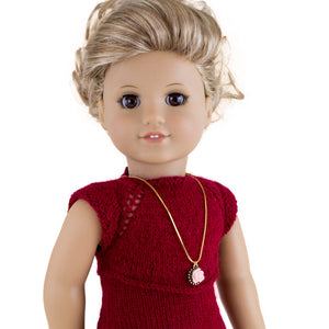 Christmas dress pattern for American Girl dolls