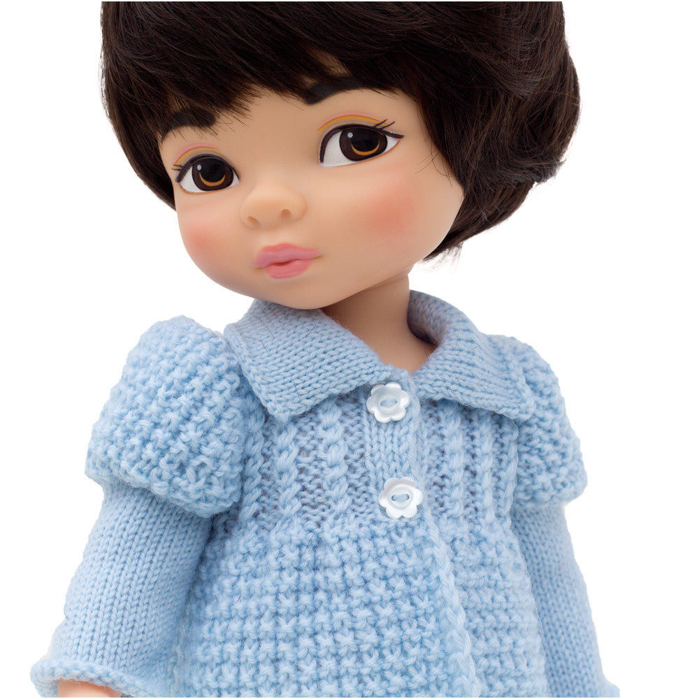 Knitted coat for Disney Animators dolls