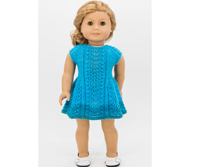 Bluebird dress for dolls