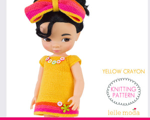 Yellow Dress knitting pattern for Disney Animators dolls