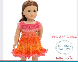 flower dress for doll