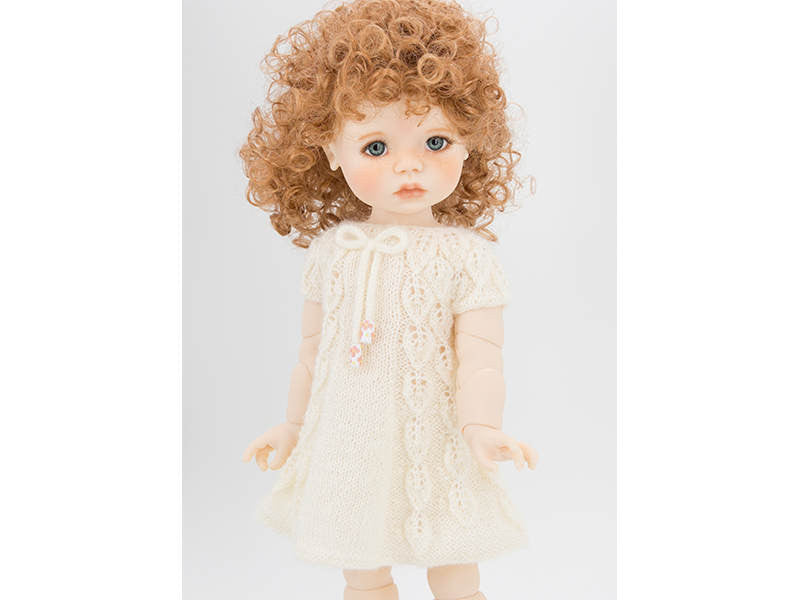 Summer Dress,  Knitting Pattern for Saffi Doll by Meadow Dolls, 18 inch MSD BJD Doll Clothes, BJD Dress, Lace Leaves Pattern