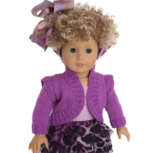 cardigan for american girl doll