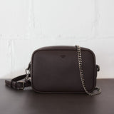 ANGELA ROI Grace Mini Cross Body | Dark Brown [Signet]