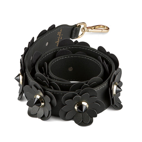 GABRIELLE BY P Bag Strap Blossom | Black & Gold