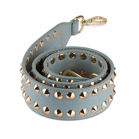 GABRIELLE BY P Bag Strap Double Stud | Grey