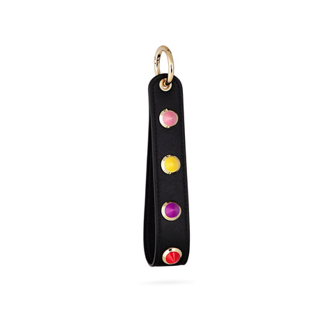 GABRIELLE BY P Rainbow Keyring | Black/Gold