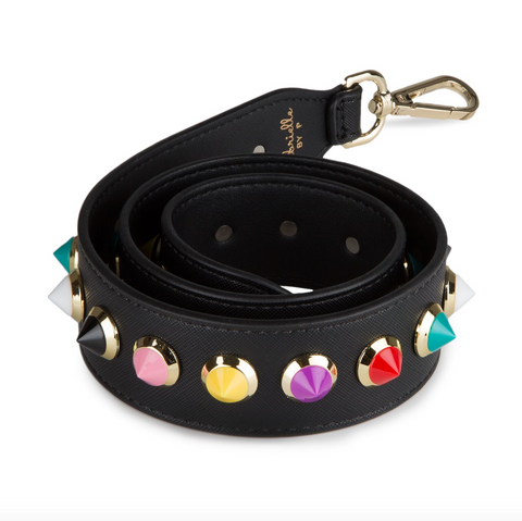 GABRIELLE BY P Bag Strap | Rainbow Black/Silver