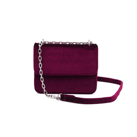 DENISE ROOBOL Mini Wallet | Blue Velvet