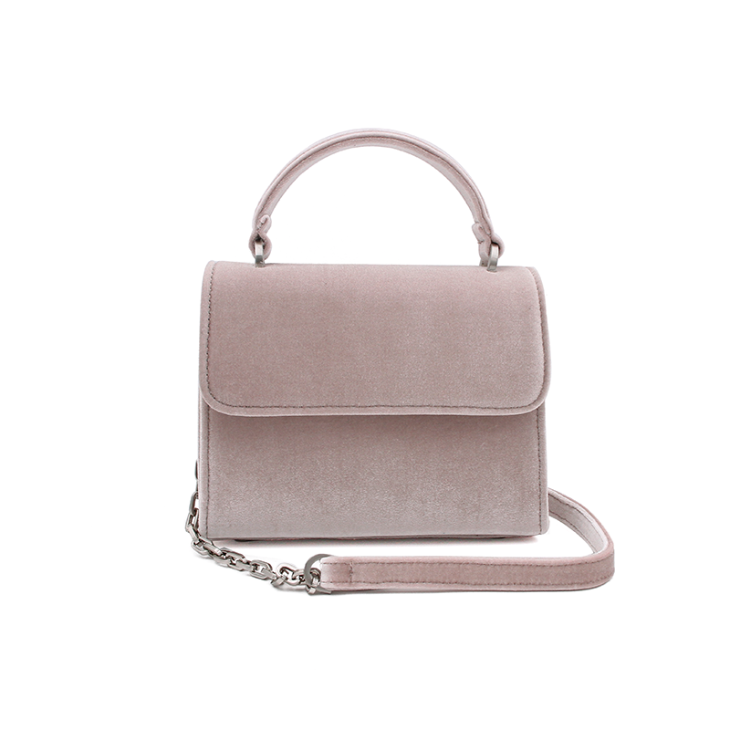 DENISE ROOBOL Mini Handle Bag | Nude Velvet