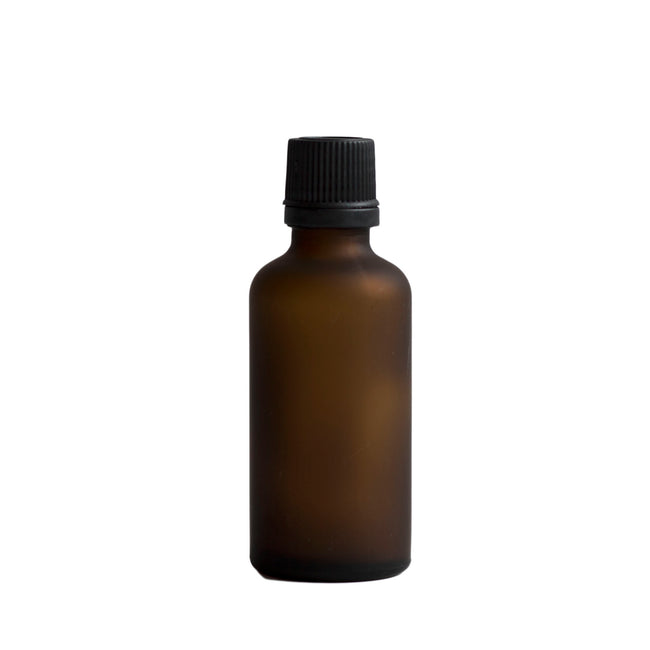 Frosted Glass Bottle - Amber (50 ml)