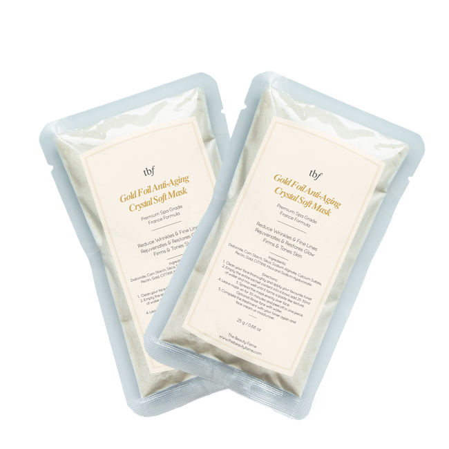 Gold Foil Anti-Aging Crystal Soft Mask (25g Duo Pack)