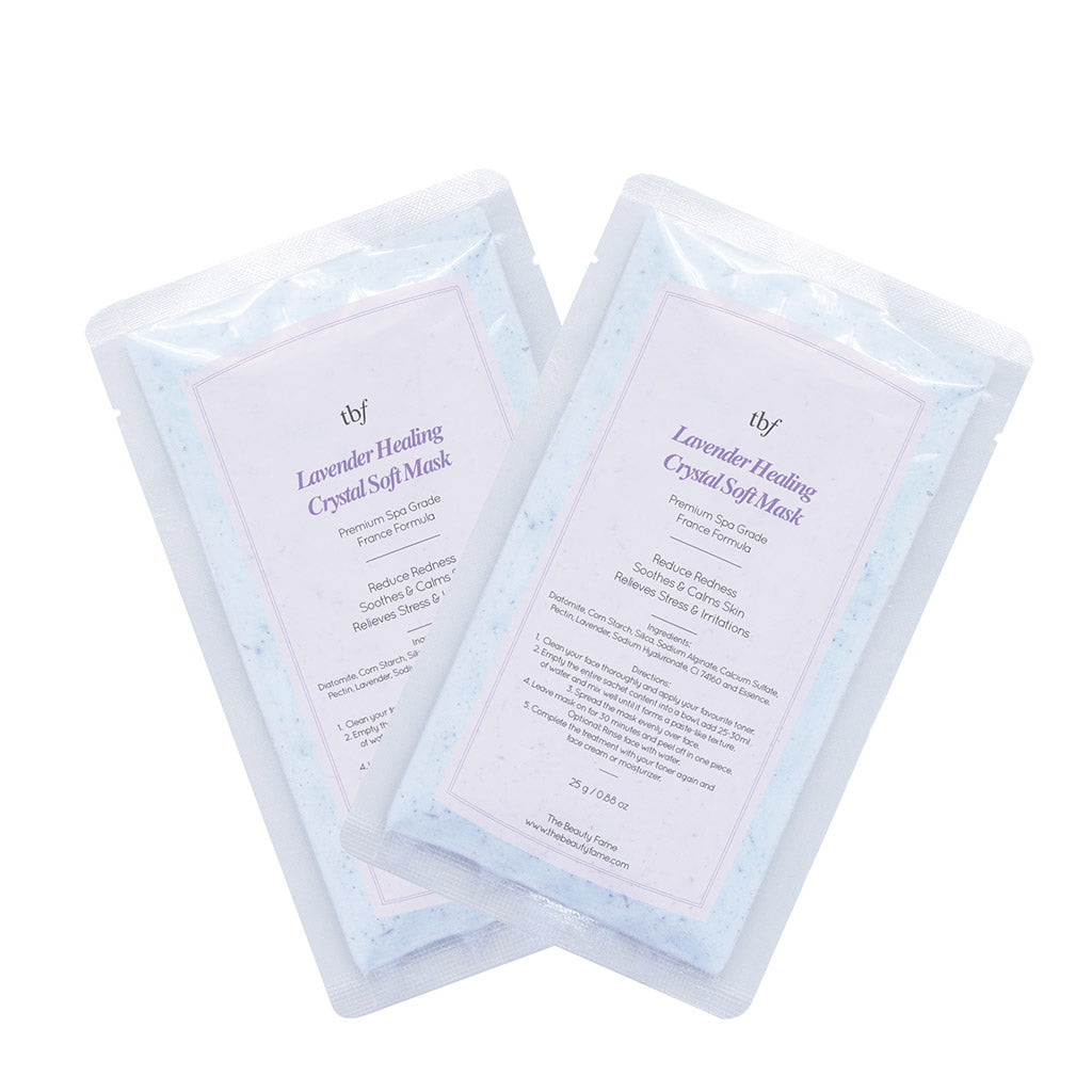Lavender Healing Crystal Soft Mask (25g Duo Pack)