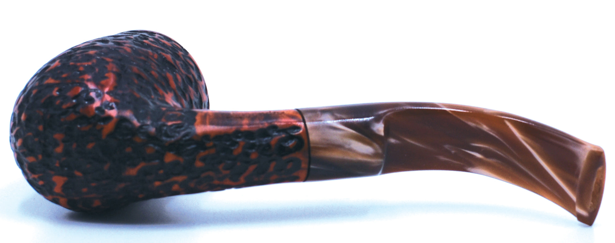 LEGENDEX® LASCALA* Plexiglass Mouthpiece 9 MM Filtered Briar Smoking Pipe Made In Italy 01-08-705