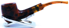 LEGENDEX® LASCALA* Plexiglass Mouthpiece 9 MM Filtered Briar Smoking Pipe Made In Italy 01-08-708