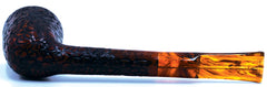 LEGENDEX® LASCALA* Plexiglass Mouthpiece Non-Filtered Briar Smoking Pipe Made In Italy 01-08-709