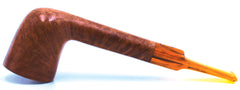 LEGENDEX® LASCALA* Plexiglass Mouthpiece Non-Filtered Briar Smoking Pipe Made In Italy 01-08-712