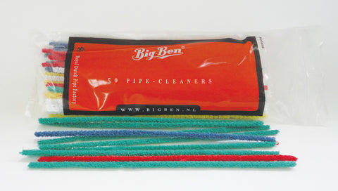 Bigben Pipe Cleaners Soft Colourful 180 MM x 50's/bag x  5 bag's bundle 03-04-004