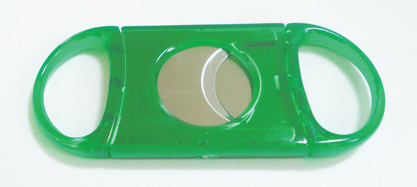 Legendex cigar cutter stainless steel double blade green 05-05-101