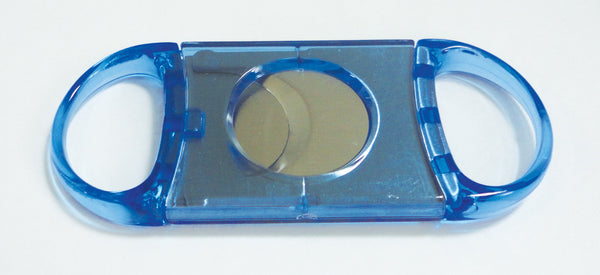Legendex cigar cutter stainless steel double blade blue 05-05-102
