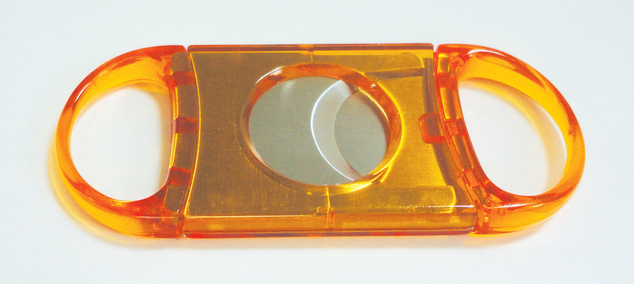 Legendex cigar cutter stainless steel double blade orange 05-05-103